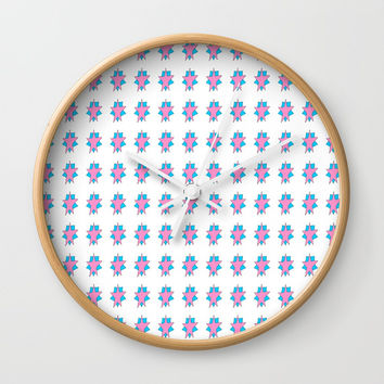 pink star 2-sky,light,rays,hope,pointed,mystical,estrella,nature,spangled,girly,gentle,star,sun Wall Clock by oldking
