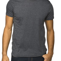 Guys Basic Melange Crew Neck Tee