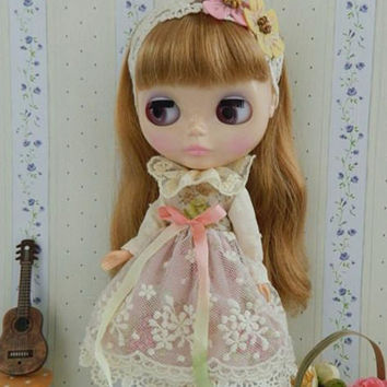 Blythe Clothes, Licca , Azone S Licca Sweet Lace  Dress