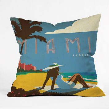 Anderson Design Group Miami Throw Pillow