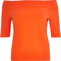 River Island Womens Red bardot top