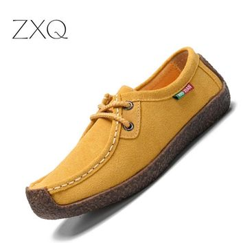 2017 summer women casual shoes cowhile leather flats shoes women oxfords for women moc