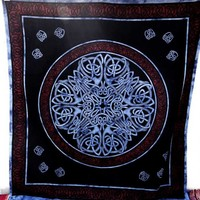 Black Purple Psychedelic Indian Mandala Tapestry Wall Hanging Room Decor