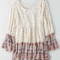 AEO Tiered Tunic Shirt , Cream