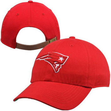 47 Brand New England Patriots Bergan Clean Up Adjustable Hat - Red