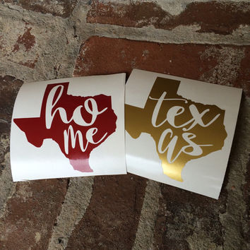Texas Home State Decal | Yeti Decal | Mac Book Decal | Car Decal