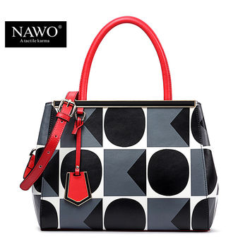 NAWO 2016 New Fashion Brand Bag Ladies Luxury Leather Handbag Tote Shoulder Bags Women Messenger Bags Handbag Purses Frame Bolsa