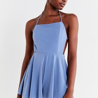 UO Tie-Back Crepe Romper | Urban Outfitters