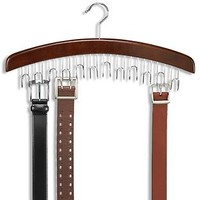The Container Store > Walnut 12-Belt Hardwood Hanger