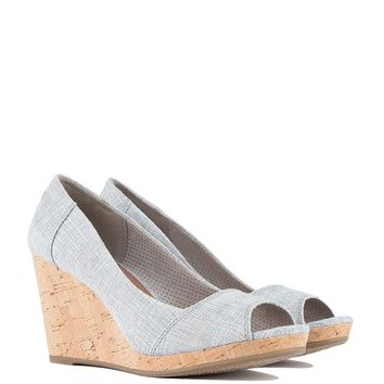 Toms Stella Wedge Sandals in Drizzle Grey