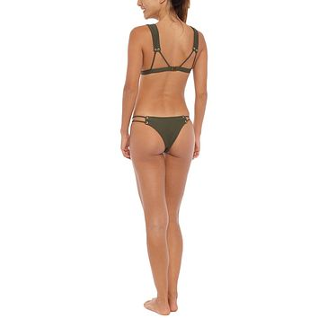 Roped Up Skimpy Bikini Bottom - Fern Green