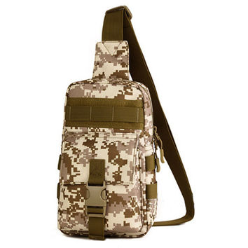 Men Crossbody Bag Nylon Camouflage Chest Pack Forest Travel Bag