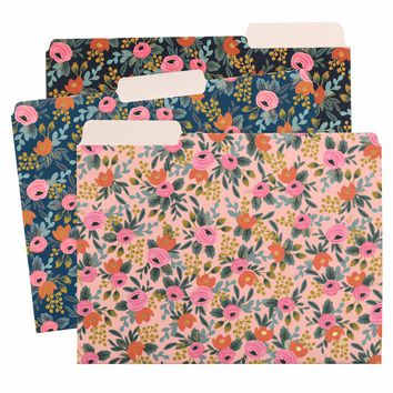 Rosa Assorted File Folders by RIFLE PAPER Co. | Imported