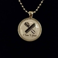 "I Tease To Please 1"" Pendant Necklace"