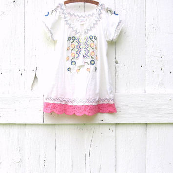 Bohemian Peasant Blouse womens size Large upcycled boho tunic top recycled refashioned eco friendly fash , upcycled clothing by wearlovenow