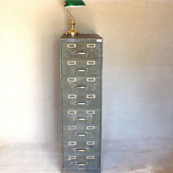 1930s San Francisco Examiner Newsroom Industrial File Storage Cabinet