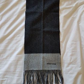 Versace Classic 100% Pure Wool Scarf Gray