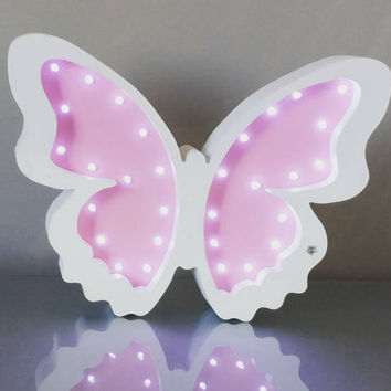Butterfly Night Light Nursery night light gift decor kids Marquee lights Gift Butterfly light wall decor