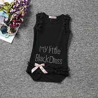 Baby Rompers Solid Baby Girls Clothing Letter Newborn Baby Clothes Roupas Bebe Sleeveless Baby Girl Clothes Infant Jumpsuits