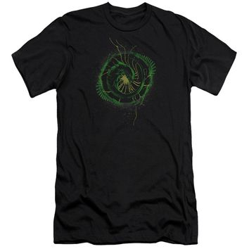 Alien - Xenomorph Shield Premium Canvas Adult Slim Fit 30/1 Shirt Officially Licensed T-Shirt