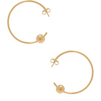Maria Black Orion Maxi Hoop Earrings in Gold | FWRD