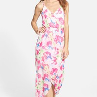 Junior Women's Lush Tulip Hem Maxi Dress