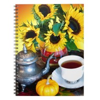 Autumn Tea Service Spiral Note Books