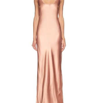 Bias-cut silk-satin gown | Galvan | MATCHESFASHION.COM US