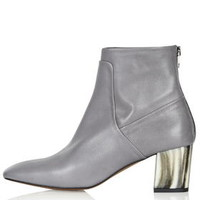 MEG Bone Heel Boots - Grey