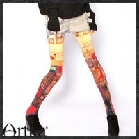 High quality, Digital Printed Leggings,Slim but Elasitic-*A09276 -1 | Artka-Fashion - Clothing on ArtFire