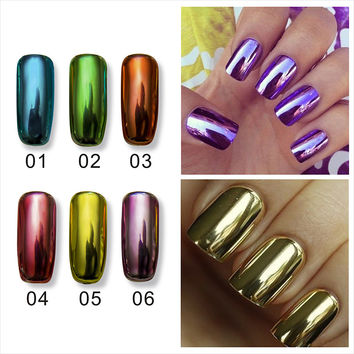 Smooth and bright metalic nail polish set mirror nail polish gel Water strippable Environmental protection nailpolish