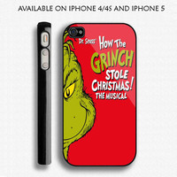 Dr.Seuss  How The GRINCH Stole Christmas The Musical Custom IPHONE 4/4S And IPhone 5 Case Apple Phone Cover Plastic