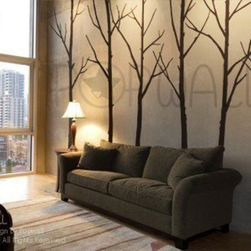 Art Wall Decals Wall Stickers   Winter Trees Decal   Wall Decal 036