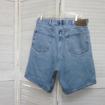 Vintage Denim Shorts Calvin Klein Jean Shorts Mens 36 Hipster Clothing Faded Denim Grunge Shorts