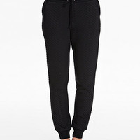 QUILTED JOGGER PANTS - Black Sweatpants by NLY TREND