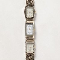 Tick Tock Watch-Bracelet by Anthropologie Gold One Size Bracelets
