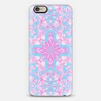 Bubblegum Pink & Blue hand drawn floral pattern iPhone 6 case by Micklyn Le Feuvre | Casetify