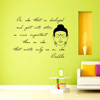 Buddha Quote Wall Decal Idea Quote Yoga Decal Vinyl Sticker Wall Decor Home Interior Design Art   VK96