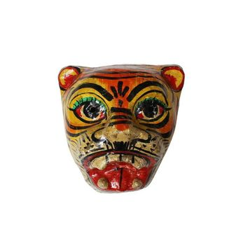 Pre-owned Paper Mache Tiger Mask