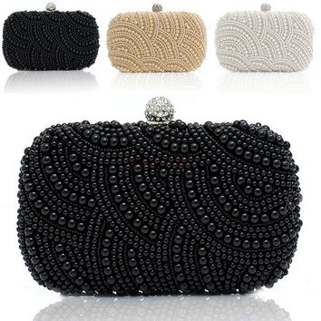 Women Clutch Bag Beaded Party Bridal Wedding Evening Purse Handbag SV007959|27701 = 1929453124