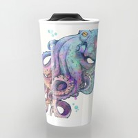 octopus Travel Mug by Laura Graves