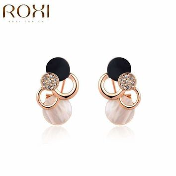2016 ROXI Brand Hot Fashion Pearl Rhinestone Ear Cuffs no Pierced Ear Clip Charms Elegant Crystal Earring For Women Gift