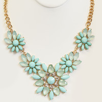 Seafoam Flower Child Necklace Set - Necklace Set