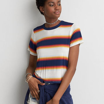 AEO Soft & Sexy Shrunken T-Shirt , Navy