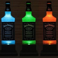 Jack Daniels Whiskey Color Changing LED Remote Controlled Eco Friendly