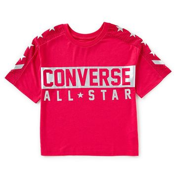 Converse Big Girls 7-16 Boxy Drapey Jersey Top | Dillards
