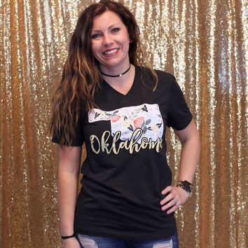 Oklahoma Floral State Calamity Jane T-Shirt