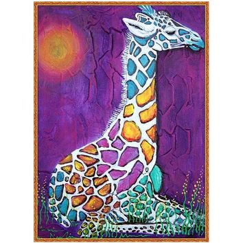 5D Diamond Painting Abstract Giraffe Kit