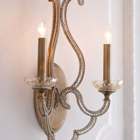 John-Richard Collection Beaded Elegance Sconce