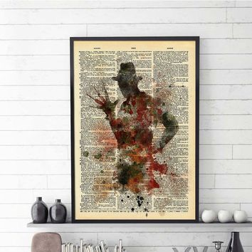 Vintage Dictionary Unframed Painting Horror Thriller Picture Paper Canvas Print Home Decor Fine Art Living Room Poster